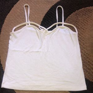 White crop top or tank top 🎀